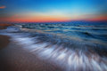 Magnificent long exposure sea sunset Royalty Free Stock Photo