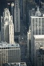 The magnificent mile from above chicago michigan avenue from bird eye view chicago illinois usa Royalty Free Stock Images