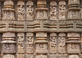 Magnificent musician sculptures, Sun temple Konark Stock Photography