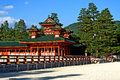 Magnificent oldest japanese orange palace view in central kyoto kansai japan Stock Photo