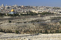 Magnificent panorama of Jerusalem. Dome of the Rock and Dome of Royalty Free Stock Photos