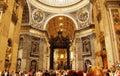 Magnificent St. Peter`s Basilica interior Vatican