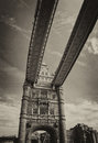 Magnificent structure of tower bridge in london uk Royalty Free Stock Images