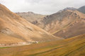 Magnificent views of the mountains of Central Asia, with a lost settlement Royalty Free Stock Photo