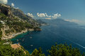 Magnificient amalfi coast amazing summer view over the picturesque in italy crystal clear meditteranean sea rocky mountains and Stock Image