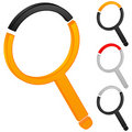Magnifier icon Royalty Free Stock Image