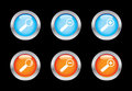 Magnifier icons Royalty Free Stock Photo
