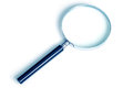 Magnifier to find and enlarge on a white background in cool colors Stock Images