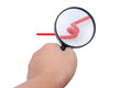 Magnifier on a white background Royalty Free Stock Photos