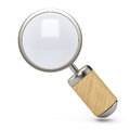 Magnifier on white background d render Royalty Free Stock Images