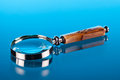magnifing glass Royalty Free Stock Photo