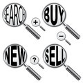 Magnify glass icons Stock Photography