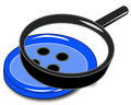 Magnifying button Royalty Free Stock Photo