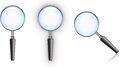 Magnifying glass with blue edge highlight and reflection Royalty Free Stock Images