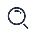 Magnifying glass icon isolated on white background illustration. Zoom symbol, or search icon concept.