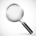 Magnifying glass illustration of on white background Royalty Free Stock Photography