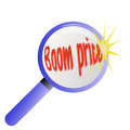 Magnifying glass with inscription explosion of pri prices boom price Stock Photo