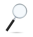 Magnifying glass isolated on white Stock Images