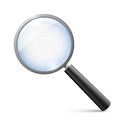 Magnifying glass isolated on white vector illustration Royalty Free Stock Photo