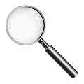 Magnifying glass (lens) Royalty Free Stock Photos