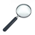 Magnifying glass or loupe against a white background Stock Images