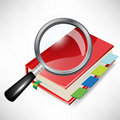 Magnifying glass and personal organizer Royalty Free Stock Photos
