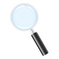 Magnifying glass realistic vector illustration Stock Photography