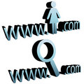Magnifying glass search internet woman website Stock Photography