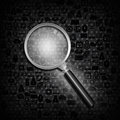 Magnifying glass  on social  background Stock Photos