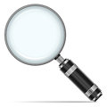 Magnifying glass vector illustration of detailed beautiful icon Royalty Free Stock Images