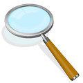 Magnifying glass vector illustration of with wooden handle Stock Images