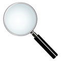 Magnifying glass on white background Royalty Free Stock Photo