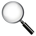 Magnifying glass on a white background Stock Images