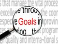 Magnifying on word goals image of Stock Photo