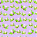 Magnolia. Seamless pattern texture of flowers. Floral background