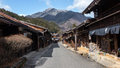 Magome japan posted town with mountain view Stock Photography