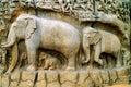 Mahabalipuram Arjuns penance Royalty Free Stock Photo