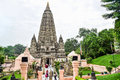 Mahabodhi temple in bodh gaya the holy place of buddha s enlightenment Stock Image