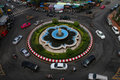 Mahachai roundabout in samutsakhon beautiful fountain thailand Royalty Free Stock Photos