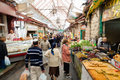 Mahane yehuda jerusalem israel november people are shopping at famous market in jerusalem Stock Photos