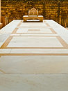 Maharajah s marble throne mehrangarh fort jodhpur rajasthan india Royalty Free Stock Image