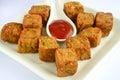 Maharashtrian Snack kothimbir vadi Royalty Free Stock Photo