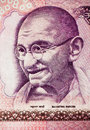 Mahatma Gandhi on Currency Note 2 Royalty Free Stock Photo