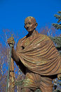 Mahatma gandhi monument of mohandas karamchand in moscow Royalty Free Stock Photography