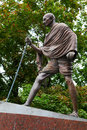 Mahatma gandhi the monument in moscow russia Royalty Free Stock Photos
