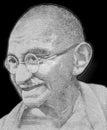 Mahatma Gandhi Portrait Royalty Free Stock Photo
