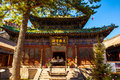 Mahavira hall hall of ceremony of guangzong temple the is one mount wutai temples the mount wutai is one Royalty Free Stock Image