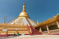 Mahazedi pagoda bago myanmar february the means the great stupa it is one of the revered pagodas in bago the was Royalty Free Stock Photography
