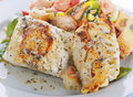 Mahi Mahi Fillets with Salad Royalty Free Stock Photo