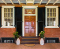 Mahogany doorway and entrance hall uva charlottesville va august on the campus of university of virginia on august designed by Royalty Free Stock Images